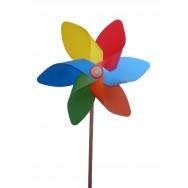 Moulin à vent fleur D. 33 cm - Décoration de jardin