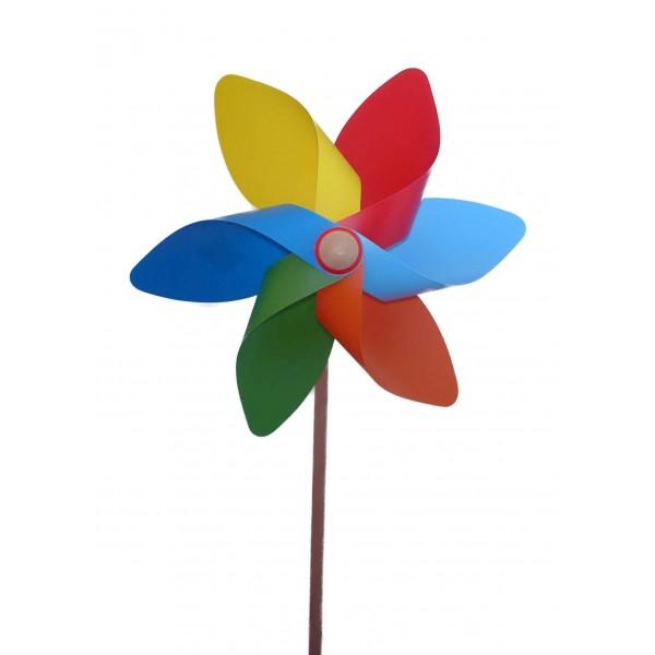 moulin vent fleur diam tre 33 cm d co de jardin pas cher jouet. Black Bedroom Furniture Sets. Home Design Ideas