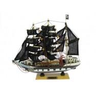 "Maquette voilier ""Pirate"" 24 cm"