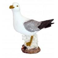 Statue mouette sur corail 29 cm