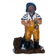 Statue marin pêcheur 11 cm - Déco thème mer