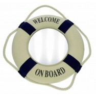"Miroir Bouée ""Welcome on board"" 25 cm"