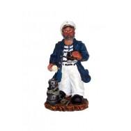 Statue marin Capitaine avec jumelles 11 cm