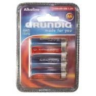 Lot de 4 Piles Grundig 1.5V AA LR6 Alcaline