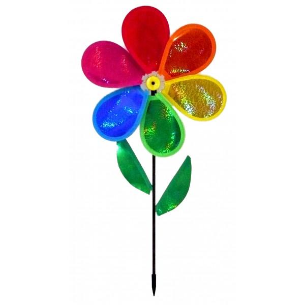 Moulin vent fleur brillante achat vente d coration de jardin pas cher - Faire peur aux oiseaux jardin ...
