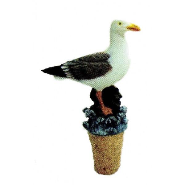 Bouchon en li ge figurine mouette d coration marine - Bouchon de liege decoration ...