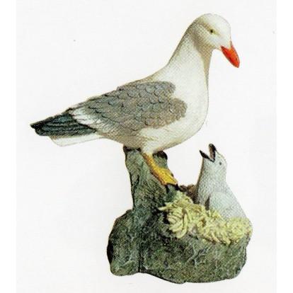 Statue mouette et son petit 8.5 cm