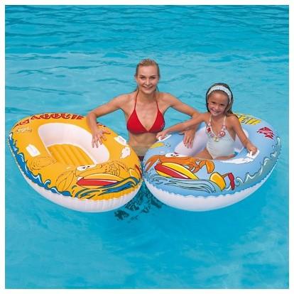 bateau gonflable pneumatique 137 cm achat vente jouet. Black Bedroom Furniture Sets. Home Design Ideas