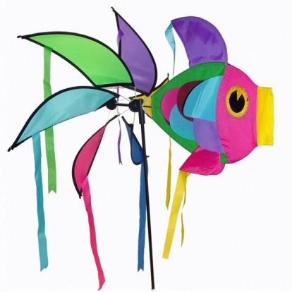 Moulin à vent girouette poisson géant multicolore - Décoration de ...
