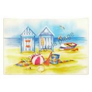 Dessous de plat en verre 20 x 30 cm : Cabines de plage