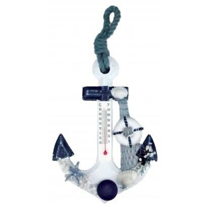 Thermomètre ancre 15 cm modèle A - Décoration marine.