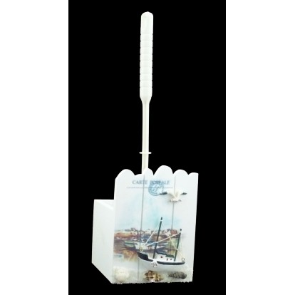 Brosse WC paysage marin chalutier