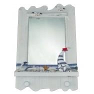 Miroir style marin avec un voilier