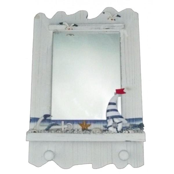 miroir style marin avec voilier achat vente d coration. Black Bedroom Furniture Sets. Home Design Ideas