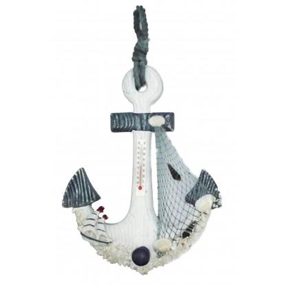 Thermomètre ancre de bateau 29 cm modèle B.