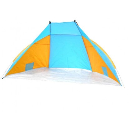 Tente de plage anti-UV 50+ 240 x 120 cm orange et bleue.