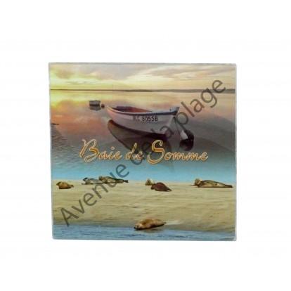 Dessous de plat carré : Baie de Somme, décoration régionale.
