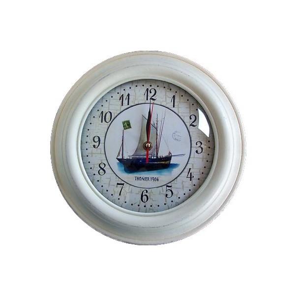Horloge et réveil deco theme mer pas cher - Avenue de la Plage.com