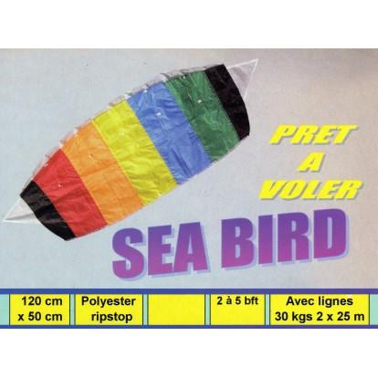 Cerf volant voile dirigeable à caissons Sea Bird 120 cm, prêt à voler.