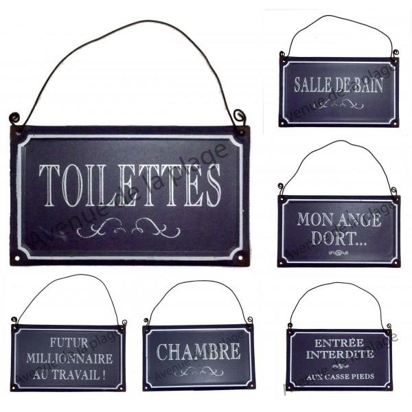 Plaque de porte style plaque de rue achat vente for Plaque de porte wc et salle de bain