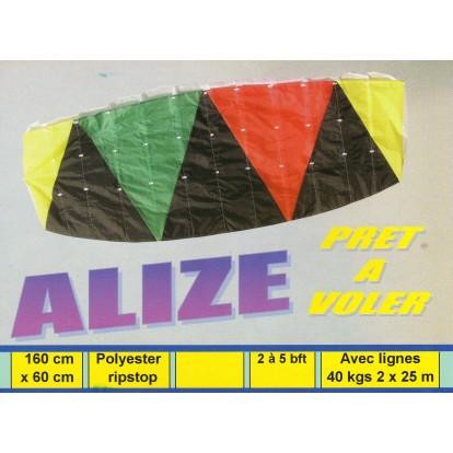 Cerf-volant voile à caisson Alizé 160 cm, toile de spy et sans armatures. Idéal débutant, prêt à voler.