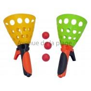 Jouet lance balle - 2 lanceurs et 3 balles