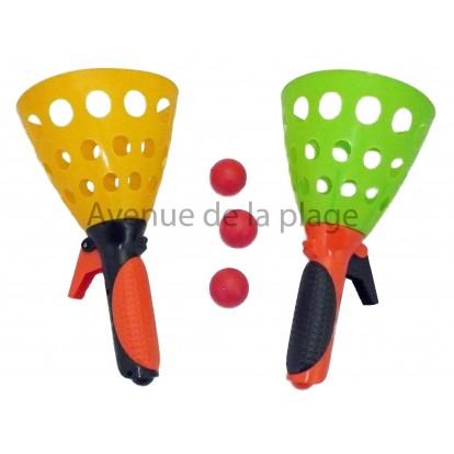 jouet lance balle 2 joueurs achat vente jouet de plage pas cher. Black Bedroom Furniture Sets. Home Design Ideas
