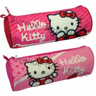 Trousse scolaire Hello Kitty rose.