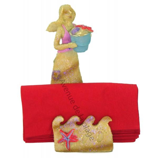 Porte serviettes figurine sir ne d coration marine for Decoration porte serviette