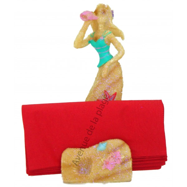 Porte serviettes figurine sir ne d coration marine for Decoration porte serviette
