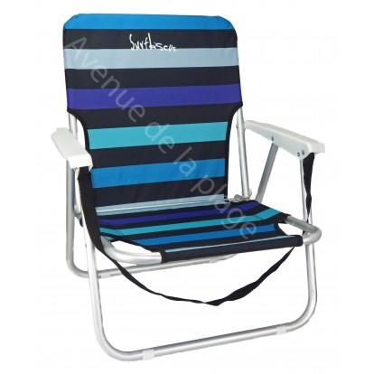 Chaise de plage basse en aluminium, siège de plage.