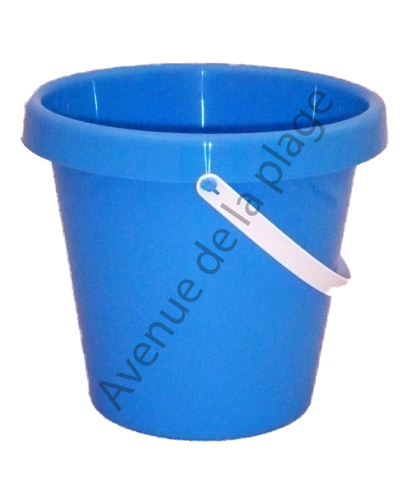 seau de plage 22 cm bleu fabriqu en france