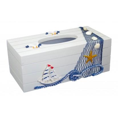Boîte à mouchoirs voilier, décoration marine.