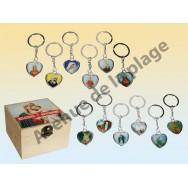 Porte clefs coeur religieux avec les Saints
