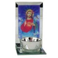 Bougeoir religieux 3D Jésus Christ - Sainte Vierge
