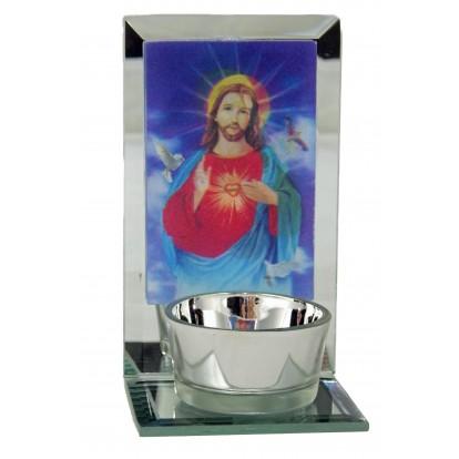 Bougeoir religieux 3D Jésus Christ.