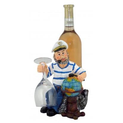 Porte bouteille marin et mappemonde d coration marine pas ch re - Porte bouteille de table ...