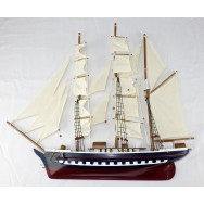 Maquette voilier trois mats à accrocher - Demi coque