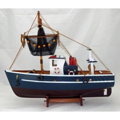 Maquette bateau de pêche 45 cm - Chalutier