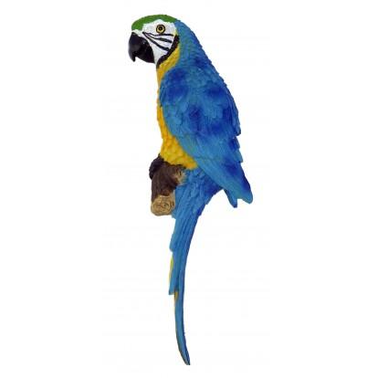 Perroquet - perruche bleue à accrocher 31 cm.