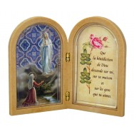 tableau lumineux led notre dame de lourdes objets religieux pas cher. Black Bedroom Furniture Sets. Home Design Ideas