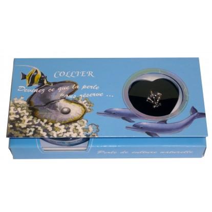 Pendentif dauphin avec perle de culture véritable et naturelle.