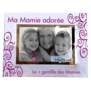 """Cadre photo """"Ma Mamie adorée - Ma + gentille des Mamies"""""""