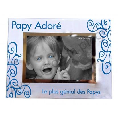 """Cadre photo """"Papy adoré - Le plus génial des Papys"""""""