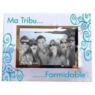 "Cadre photo en verre ""Ma Tribu Formidable"""