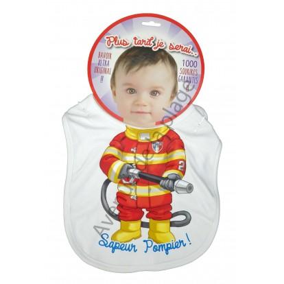 Bavoir bébé humoristique Sapeur Pompier
