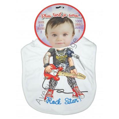 Bavoir bébé humoristique Rock Star