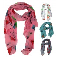Foulard écharpe Peace and Love