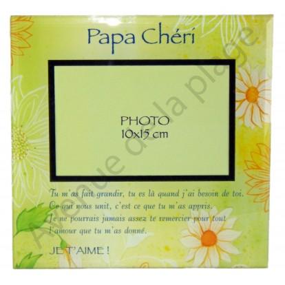 "Cadre photo message ""Papa chéri"""