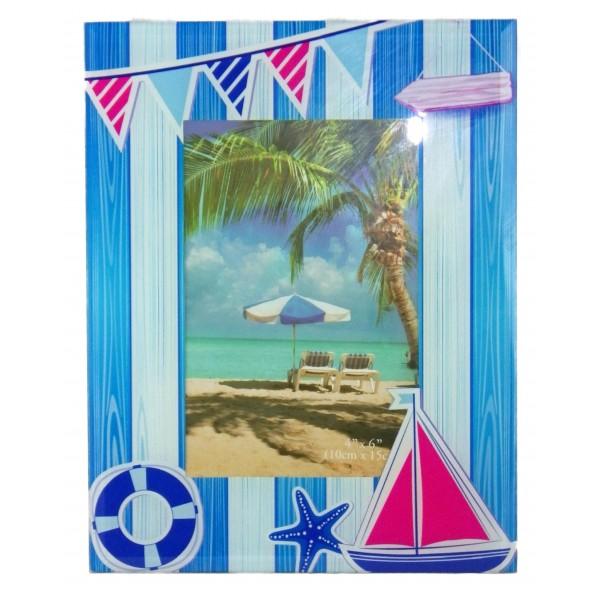 Cadre photo en verre d cor marin achat vente avenue de for Cadre photo en verre